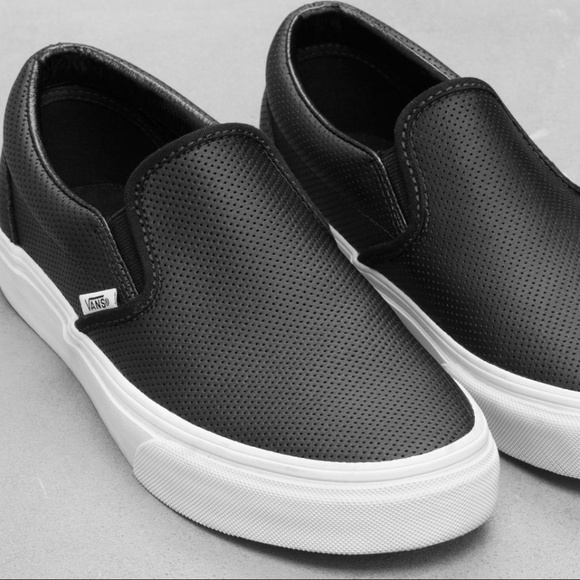 f77bf38fd65ee9 Vans Asher Perforated Leather Slip-On Shoes. M 5b6e3a97c2e9fede22525ca8